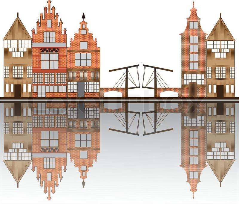 Amsterdam skyline stock vector colourbox for Product design jobs amsterdam
