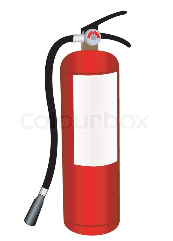 fire extinguisher illustration on a white background stock vector rh colourbox com fire extinguisher art cartoon fire extinguisher sign cartoon
