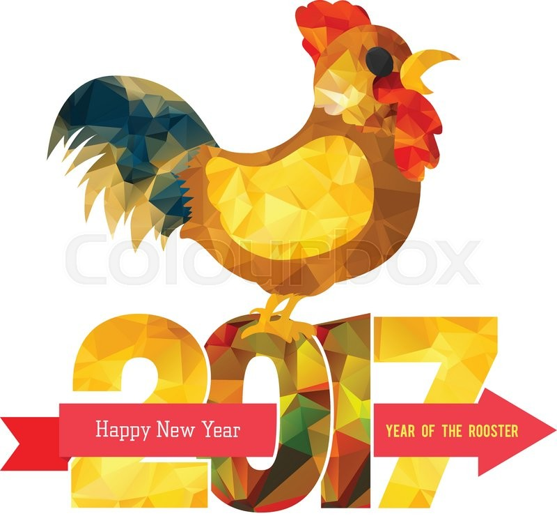 2017 happy new year greeting card chinese new year of the rooster 2017 happy new year greeting card chinese new year of the rooster stock vector colourbox m4hsunfo
