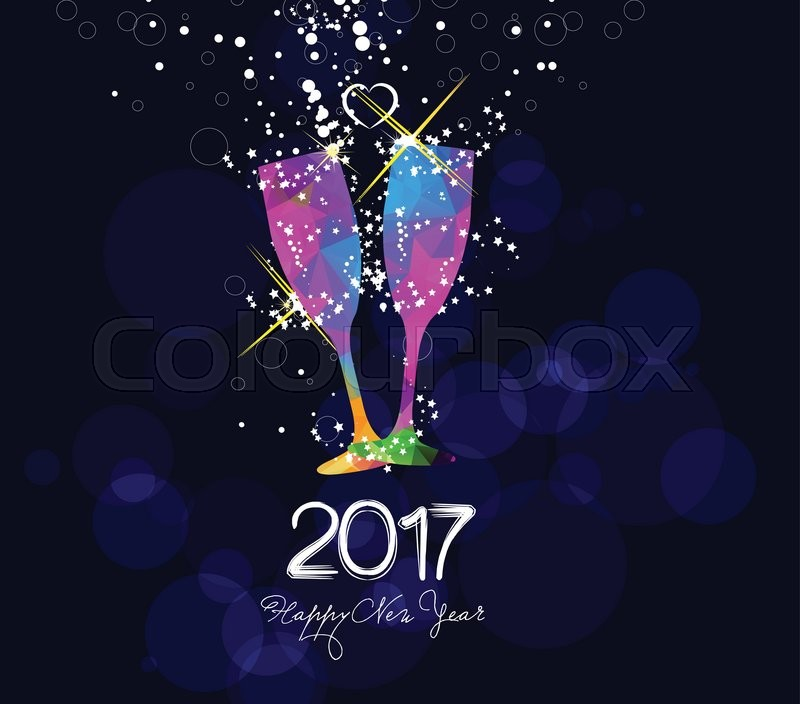 Happy New Year 2017 Greeting Card Or Stock Vector Colourbox