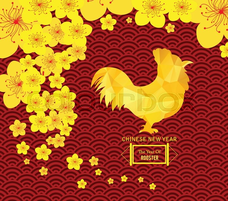 chinese new year template background 2017 stock vector colourbox