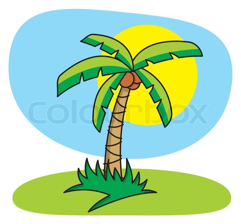 palm tree cartoon stock vector colourbox rh colourbox com Palm Tree Beach Clip Art Hawaiian Palm Trees Clip Art