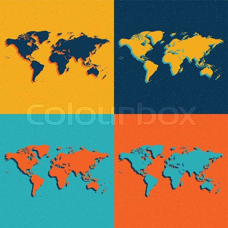 Color world maps flat style vector eps illustration stock vector color world maps flat style vector eps illustration vector gumiabroncs Image collections
