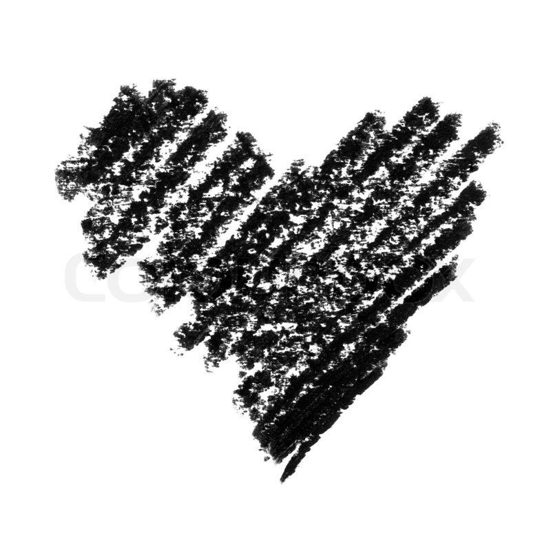 Painted Heart Symbol Heavy Version Stock Photo Colourbox