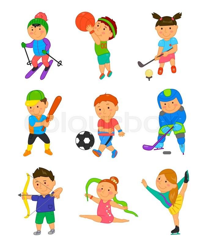 cartoon sport kids vector illustration - Sports Images For Kids