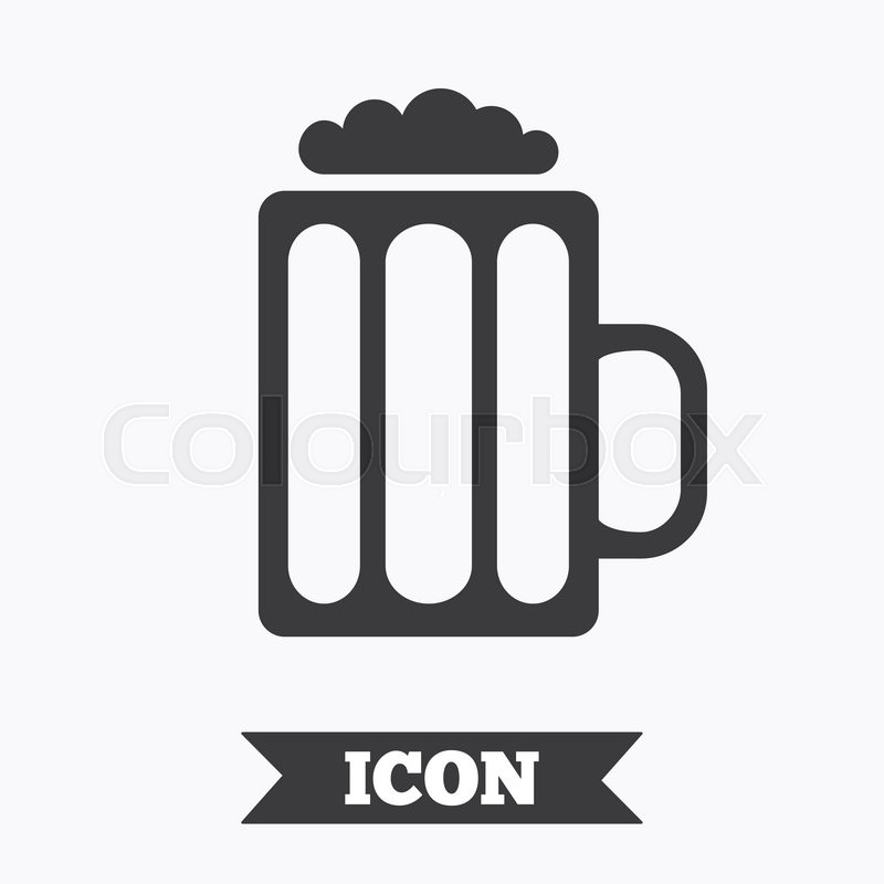 Glass Of Beer Sign Icon Alcohol Drink Symbol Graphic Design