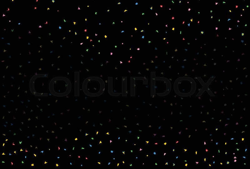 black and faded fallingconfetti party background stock vector