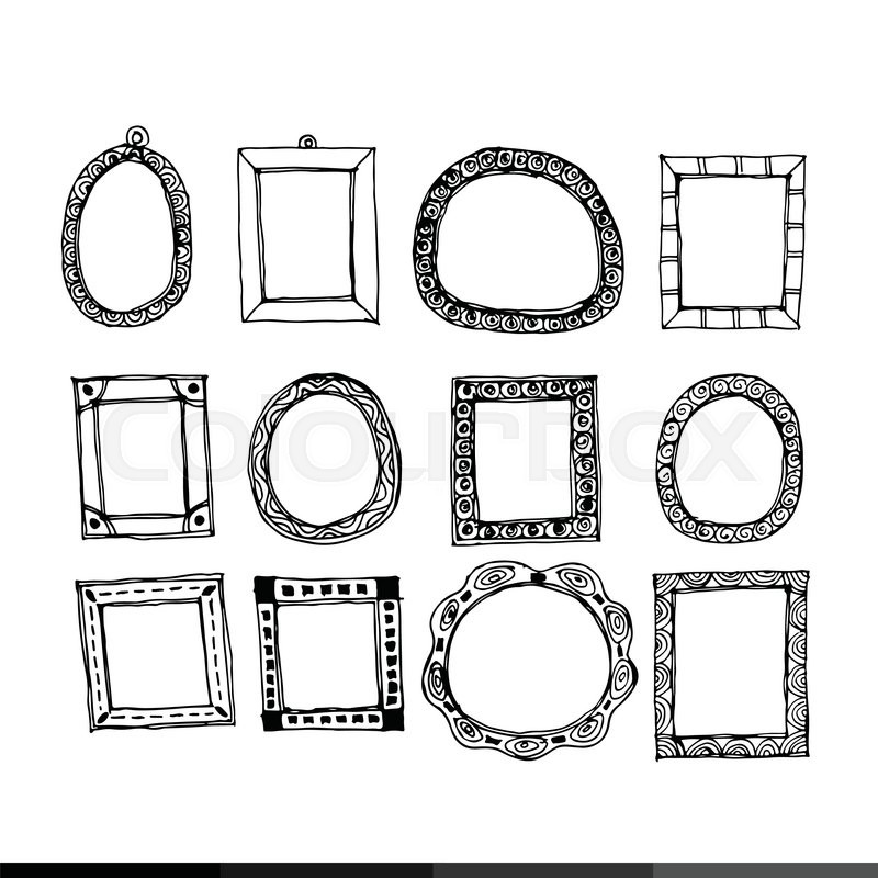 how to draw victorian frames