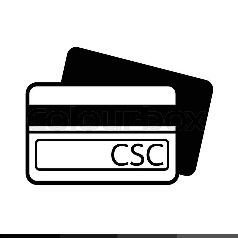 Card Security Code CSC icon       Stock vector   Colourbox
