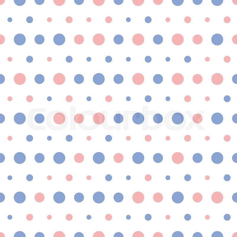 Vector Pattern Of Big And Small Colorful Pink And Blue