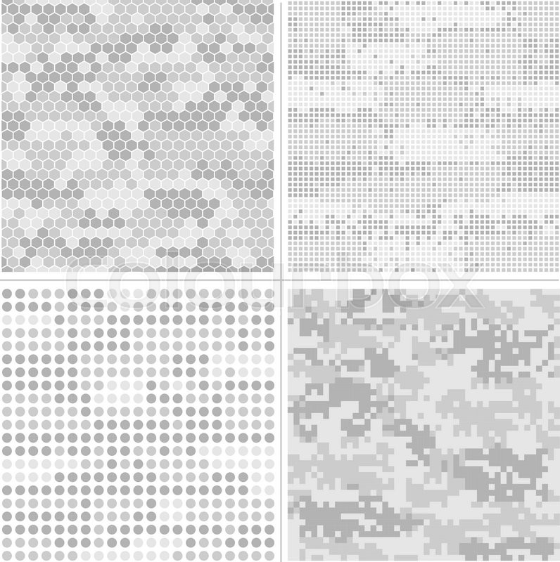 Stock Vector Of Seamless Digital Pixel Camouflage Collection