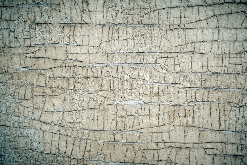 Old painted cracked peeling wood texture, close-up | Stock ...
