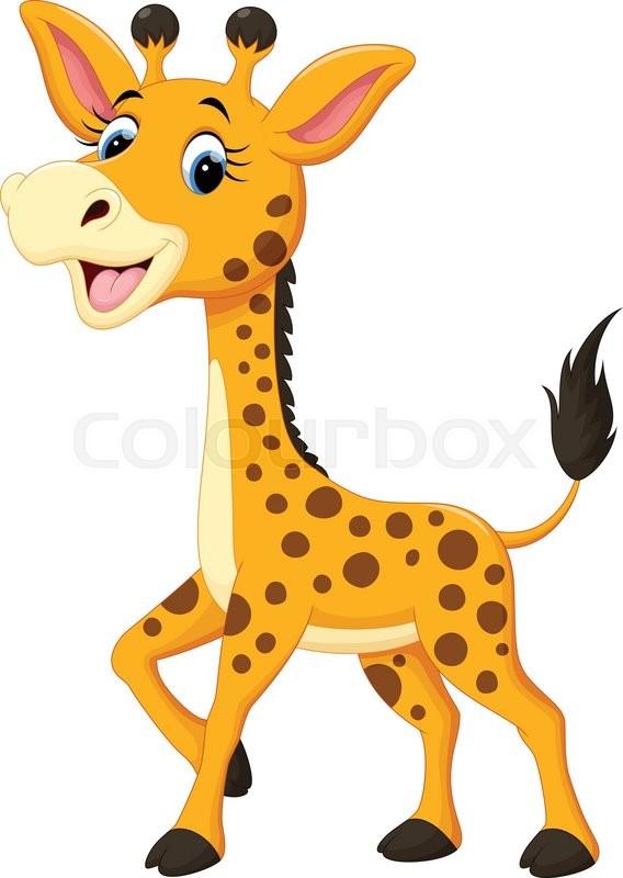 Giraf maskot gl de stock vektor colourbox - Cartone animato giraffe immagini ...