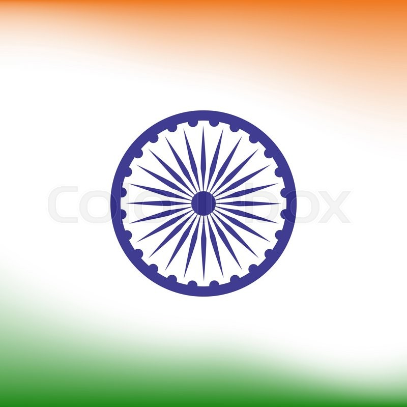 Abstract India flag background. Poster or brochure template. Vector ...