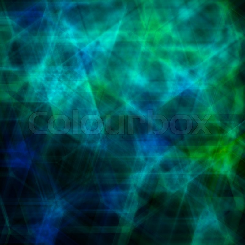 Abstract Background With Dark Blue And Green Stars On