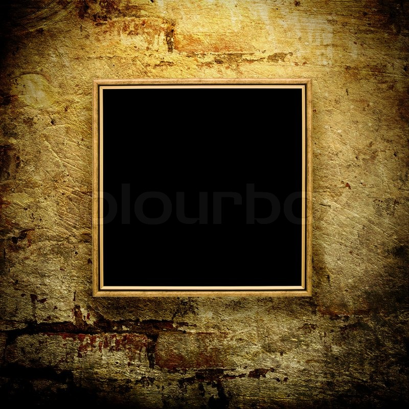 Old Polaroid Frame On Grunge Background Stock Photo