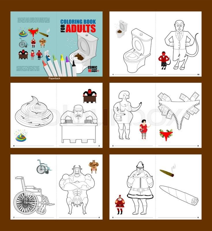 Crazy Coloring book for adults. illustrations for coloring in linear ...