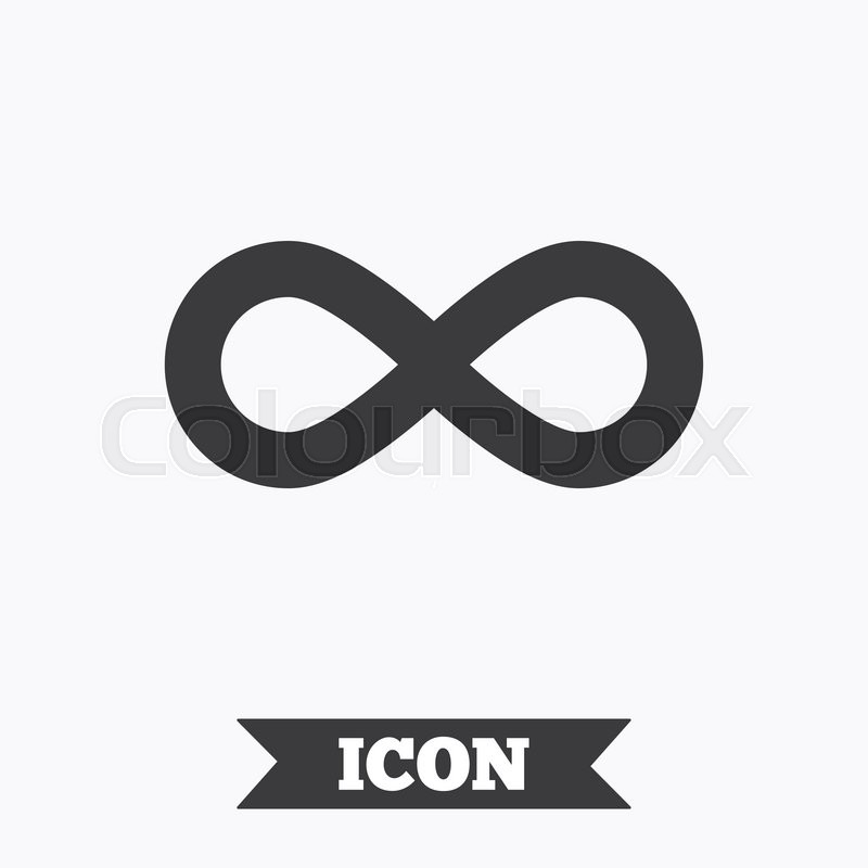 Limitless Sign Icon Infinity Symbol Graphic Design Element Flat