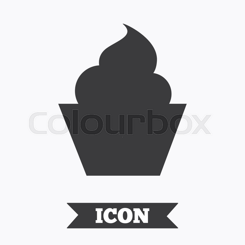 Muffin Sign Icon Cupcake Symbol Graphic Design Element Flat Muffin Symbol On White Background Vector Stock Vector Colourbox