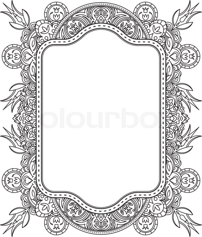 Ethnic template for design wedding invitations and greeting cards ethnic template for design wedding invitations and greeting cards henna flowers mehndi elements of vintage patterns indian or asian motif vector stopboris Images