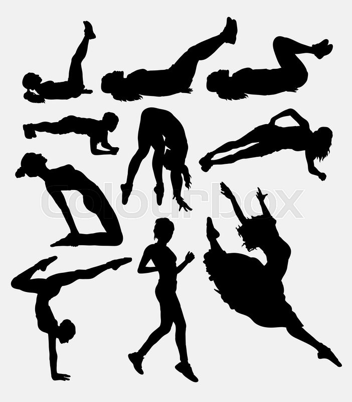 Pilates Female Sport Activity Silhouette 1 Good Use For