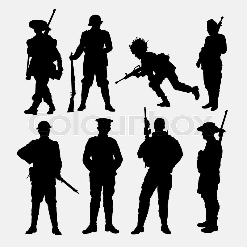 Army Military Soldier Police Silhouette Good Use For Symbol