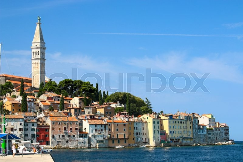 Stock Bild von 'sea, city, istria'