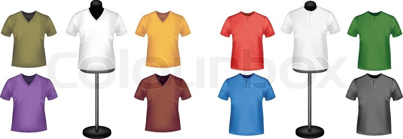 Stock vector of 'T-shirts with mannequins. Vector.'