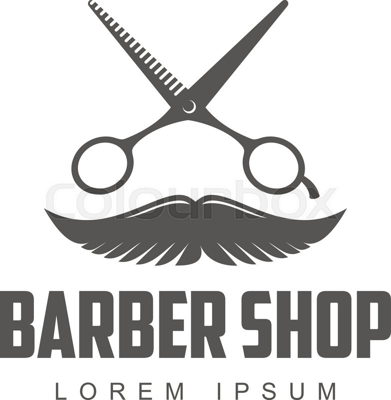 Vintage Barber Shop Logo Label Badge And Design Element Vector Illustration Isolated On White Background Combs Moustache Scissors For