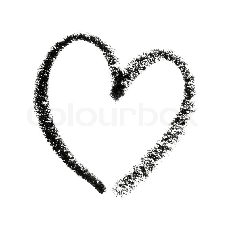 painted heart symbol outline stock photo colourbox rh colourbox com heart shaped outline symbol outlined heart symbol