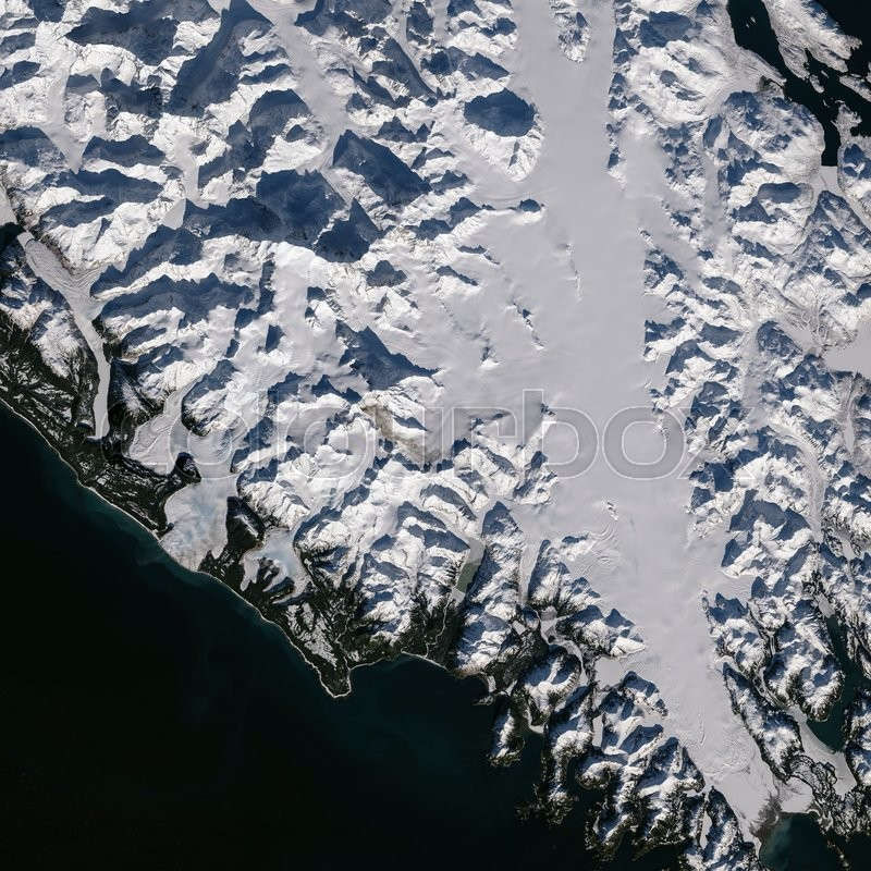 Earth view from space. Elements of this image furnished by NASA, stock photo
