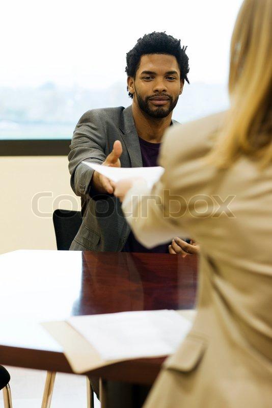 eric audras altopress maxppp man handing prospective employer