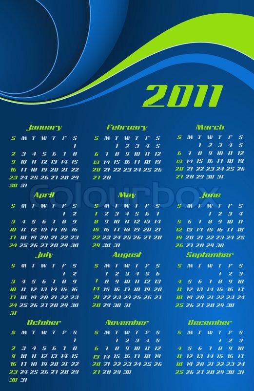 Vector Abstract Calendar Design Stock Vector Colourbox