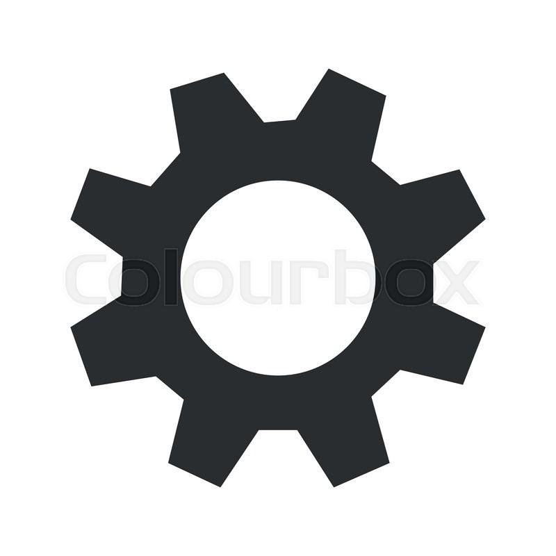 flat design single gear icon vector illustration stock vector rh colourbox com gear icon vector free download gear icon vector white