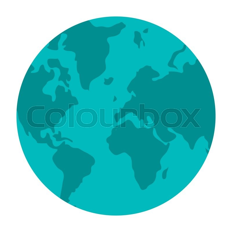 World map globe earth icon isolated vector illustration stock world map globe earth icon isolated vector illustration stock vector colourbox gumiabroncs Gallery