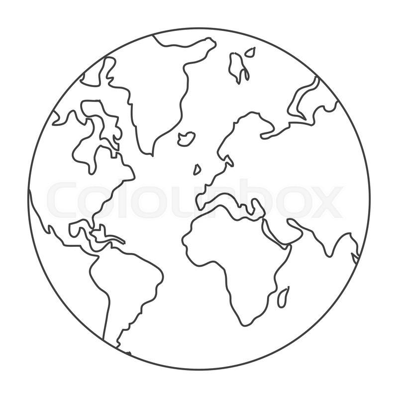 World map globe earth icon isolated vector illustration stock world map globe earth icon isolated vector illustration stock vector colourbox gumiabroncs Choice Image