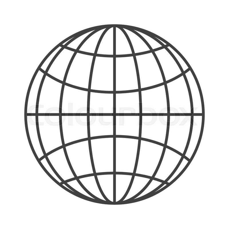 flat design earth globe diagram icon stock vector colourbox Flow Diagram Icon