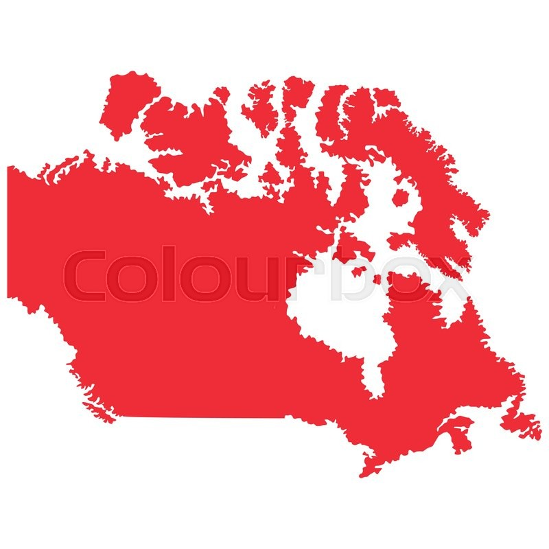 Map Of Canada Silhouette.Flat Design Canada Map Silhouette Icon Stock Vector Colourbox