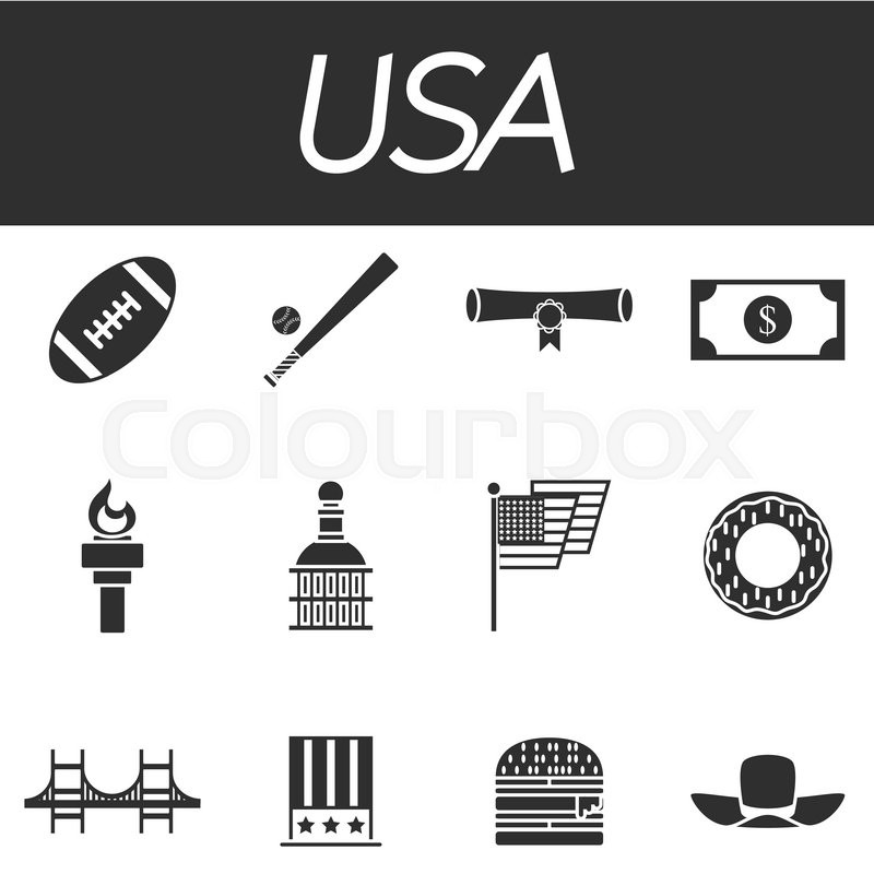 Set Of Vector Design Usa Travel Icons And Infographics Elements With