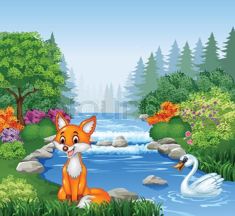 Kết quả hình ảnh cho fox cartoon in the forest