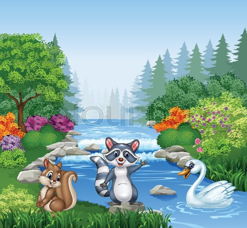 vector illustration of cartoon funny animals in beautiful squirrel clipart with no background squirrel clipart free
