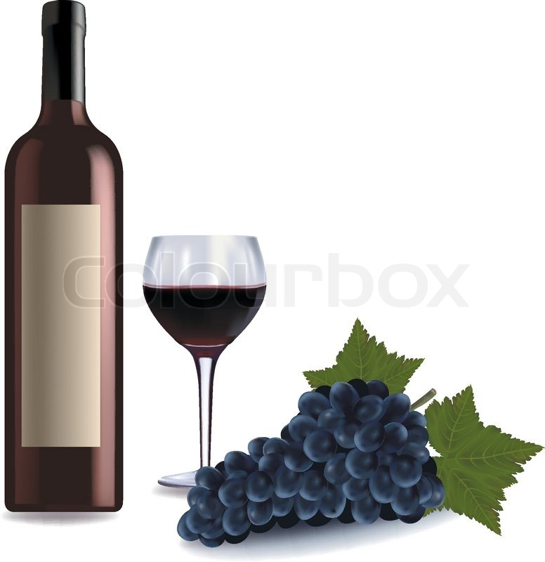 A wine bottle and glass of red wine and some grapes for Red glass wine bottles suppliers