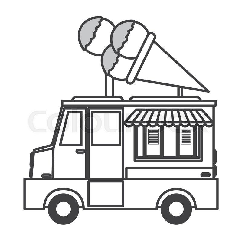 - Flat Design Ice Cream Truck Icon Stock Vector Colourbox