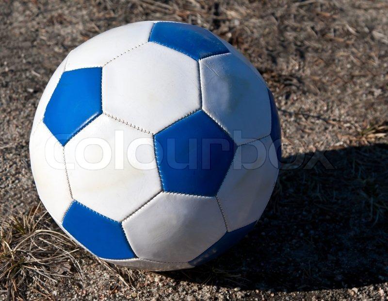Blue white soccer ball