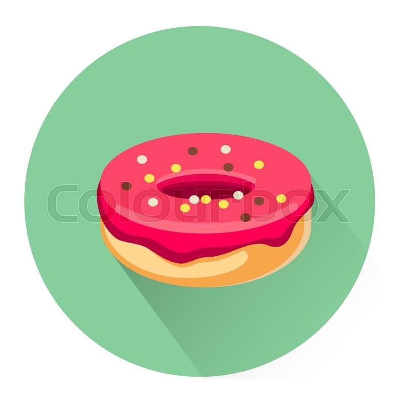 Cartoon dessert donut icon isolated on ... | Stock Vector ...