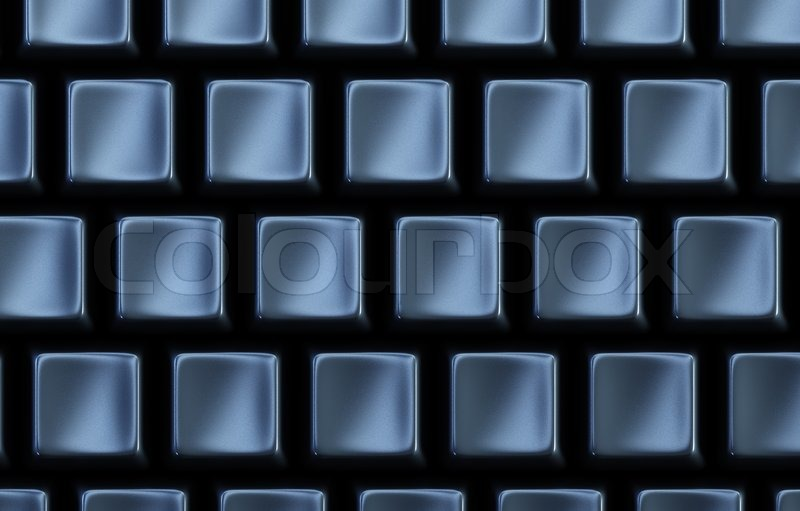 black keyboard without letters 3d rendering stock photo