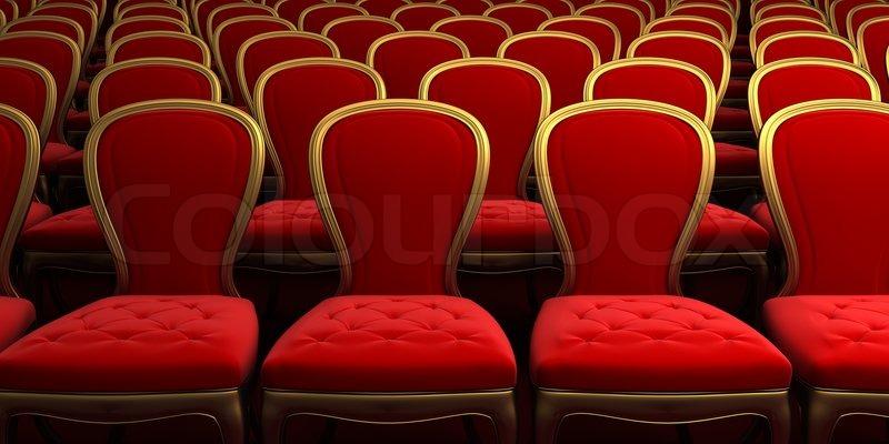 Konzertsaal mit rotem Sitz | Stock-Foto | Colourbox