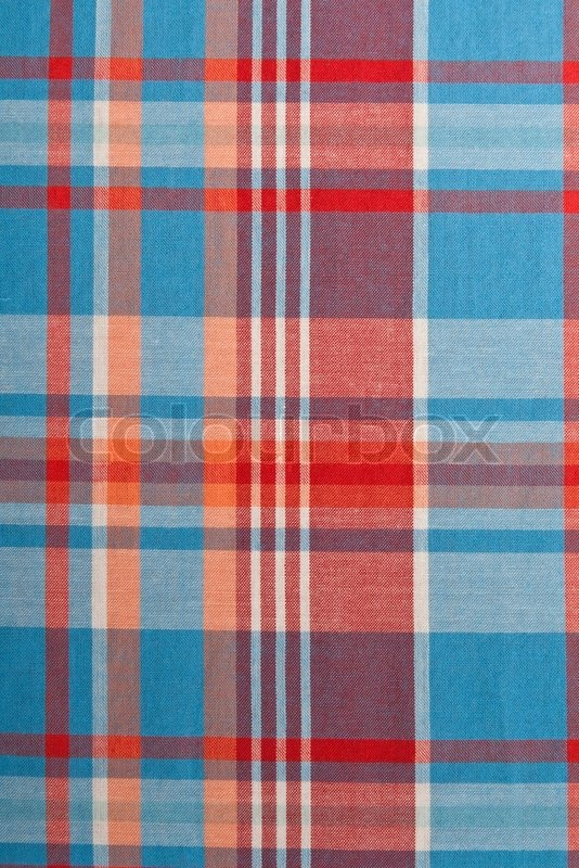 Background of red and blue plaid fabric | Stock Photo | Colourbox