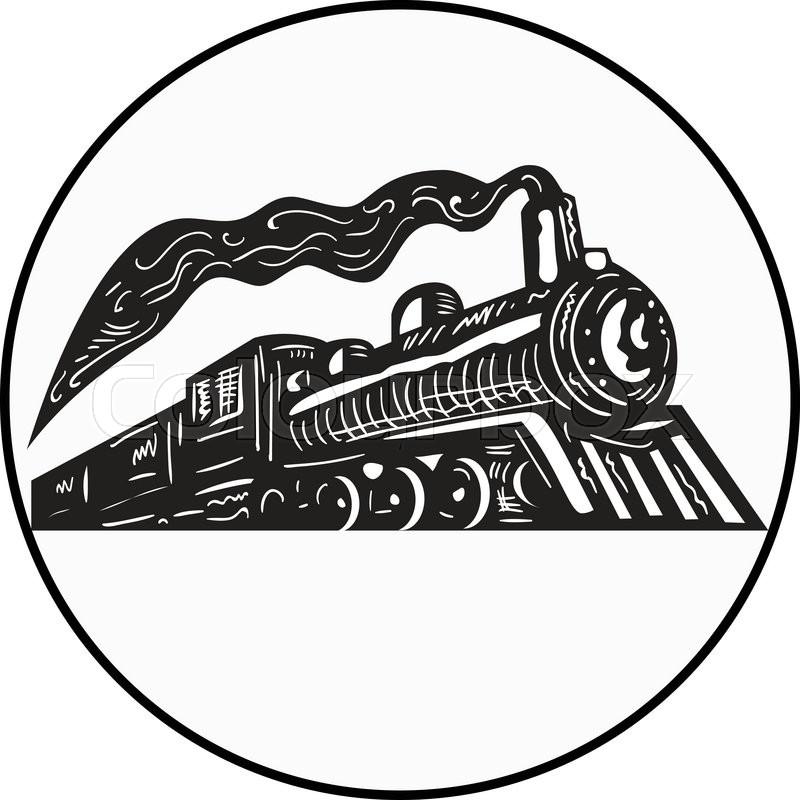 Illustration Of A Steam Train