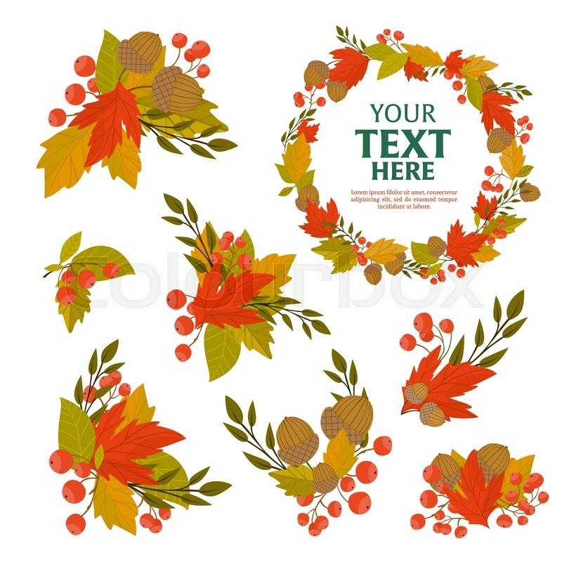 Herbst, wind, rahmen   Vektorgrafik   Colourbox